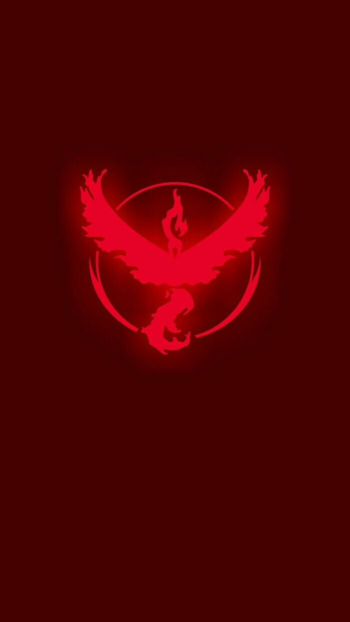 700x1245 Pokemon Go Team Valor Smartphone Wallpaper Vector Art