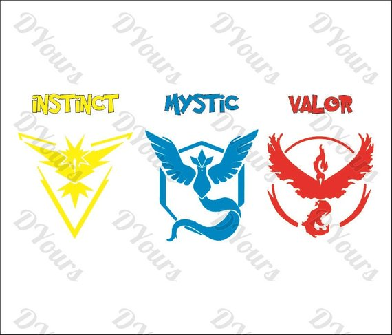 570x487 Pokemon Go Teams Instinct Mystic Valor Vector Clipart Svg Etsy
