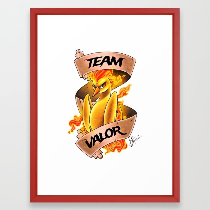 700x700 Team Valor Framed Art Print By Jacklynkirk Society6