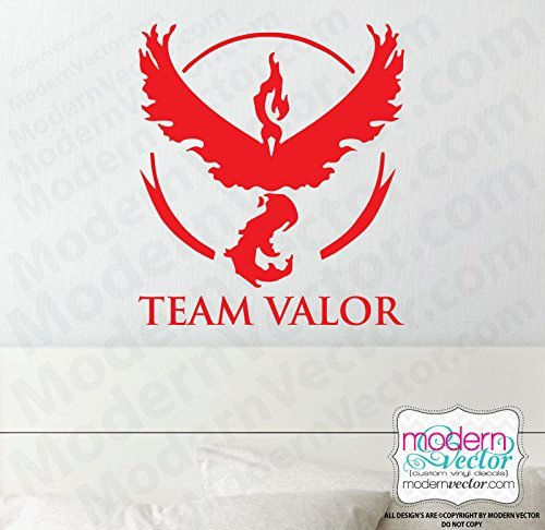 500x486 Pokemon Go Inspired Team Valor Vinyl Wall Decal