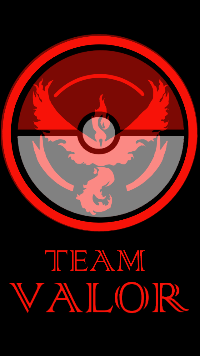 640x1136 Team Valor Phone Background By Keboguitartist