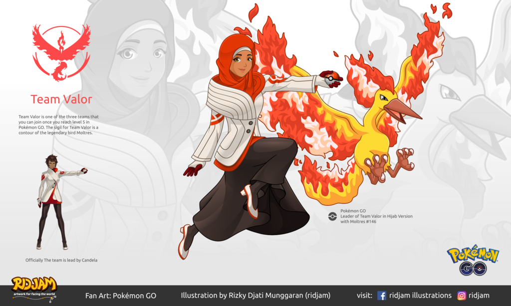 1024x613 Leader Of Team Valor With Moltres By Ridjam