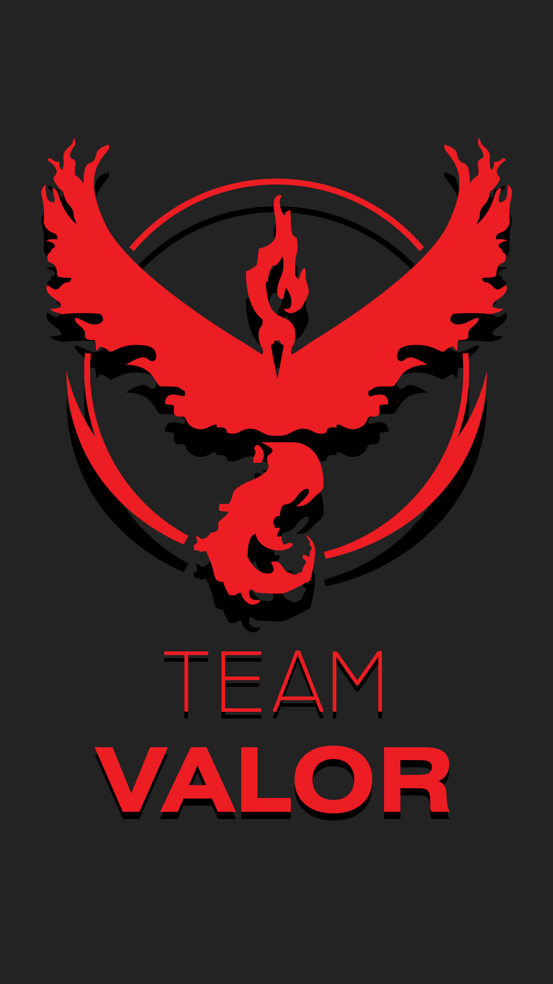 1080x1920 Made This Walpaper For Team Valor Pokemongo