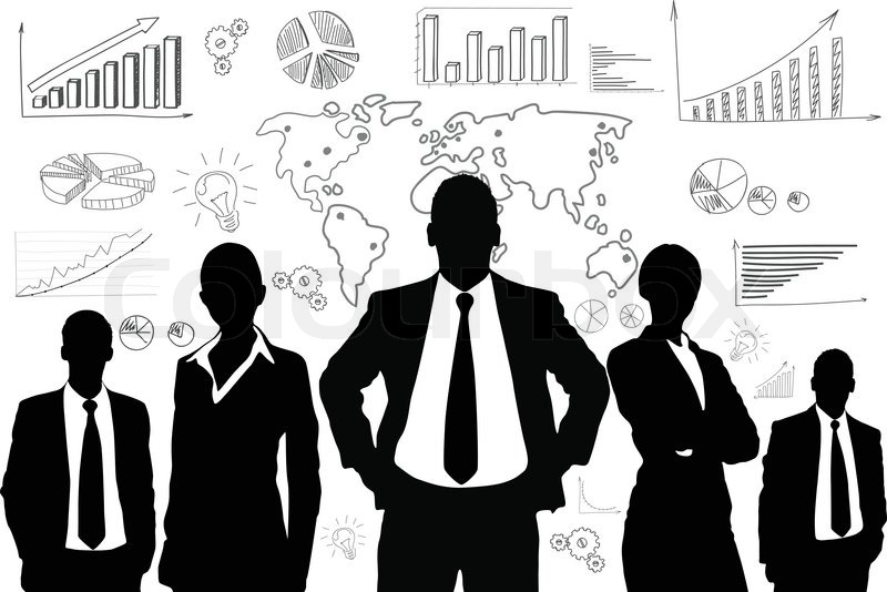 800x534 Business People Group Black Silhouette Concept Businesspeople Team