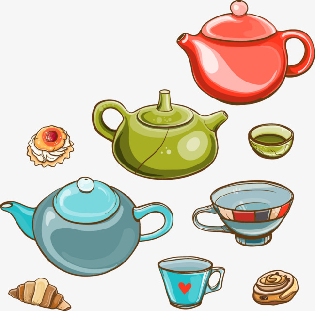 650x641 Color Teapot Vector Material, Color Vector, Vector Material, Color