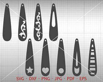 340x270 Tear Drop Svg, Pendant Svg, Vector Dxf, Leather Earring Jewelry
