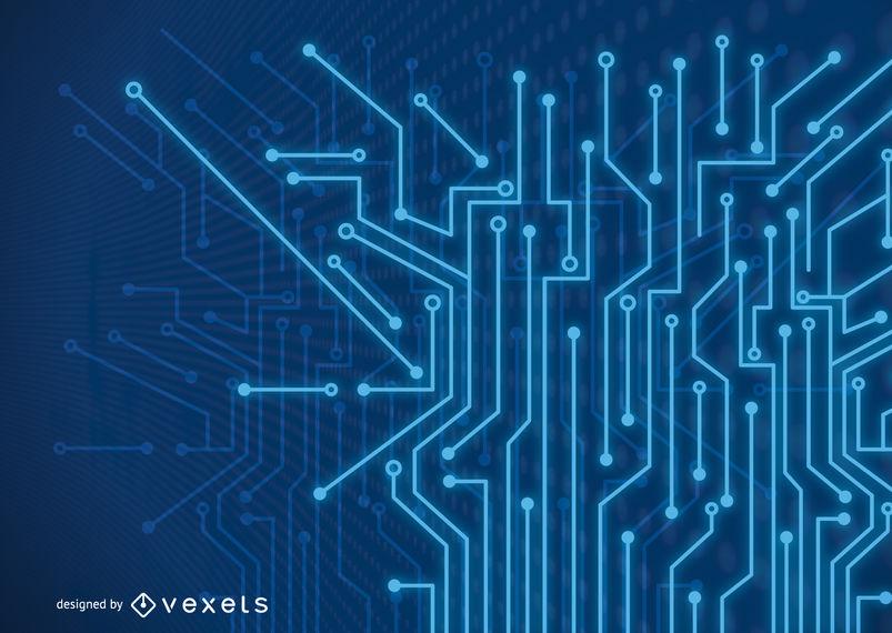 803x570 Futuristic Fluorescent Blue Tech Lines Background