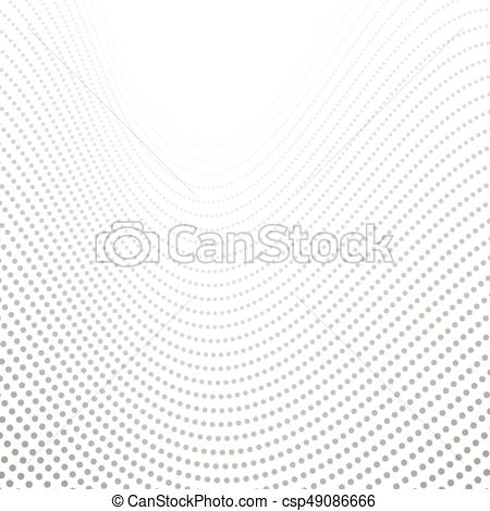 450x470 Grey Tech Wavy Dotted Lines Abstract Background. Vector Design.