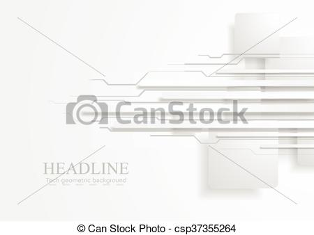 450x338 Abstract Tech Background With Grey Paper Squares And Stripes