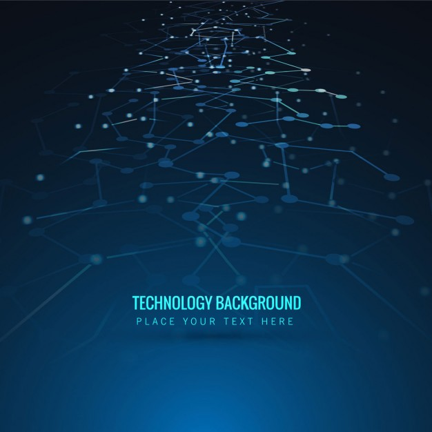 626x626 Tech Background Of Abstract Lines And Points Vector Free Download