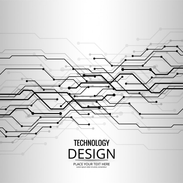 626x626 Technological Background Of Gray Abstract Shapes Vector Free