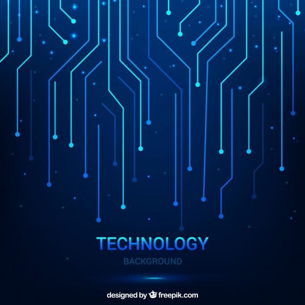 626x626 Technological Background With Lines Vector Free Download