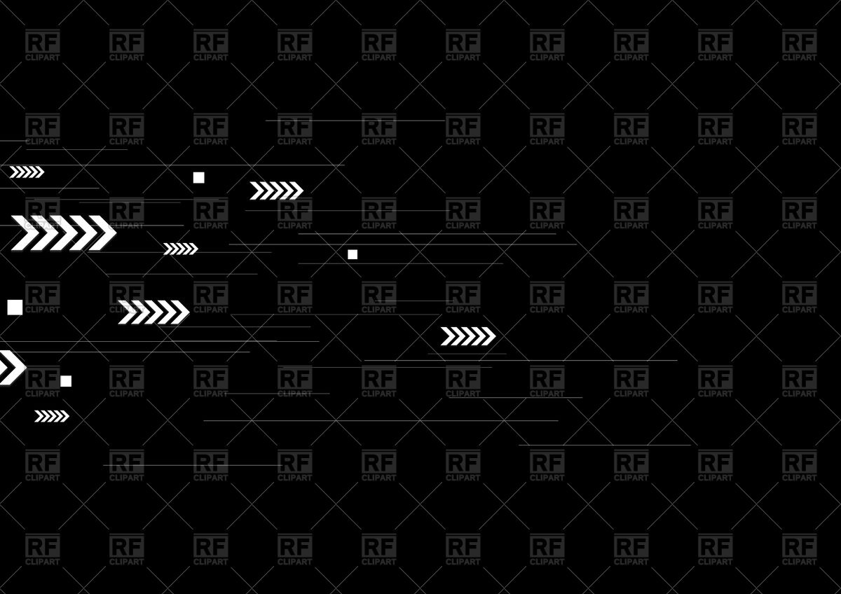 1200x848 Black Tech Background With White Lines And Arrows Vector Image