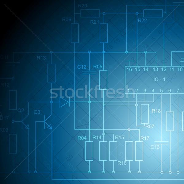 600x600 Electrical Scheme Tech Vector Background Vector Illustration