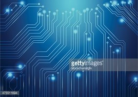 283x200 High Tech Vector Background With Circuit Board Texture Stock
