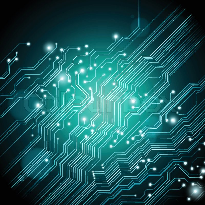 800x800 High Tech Vector Background With Circuit Board Texture Stock
