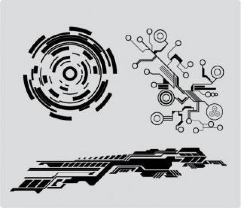 780x672 Tech Shapes Vectors