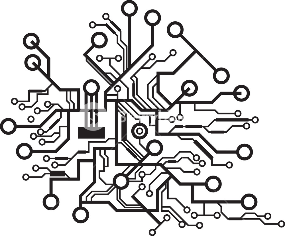 1000x828 Tech Vector Element Royalty Free Stock Image