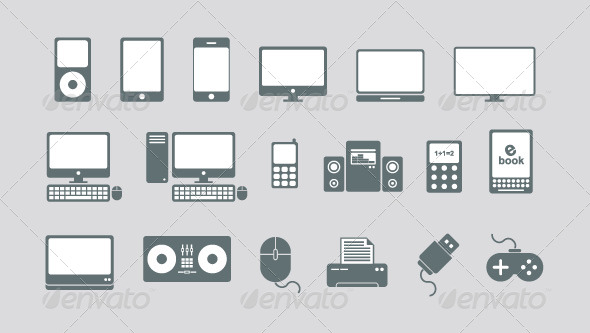 590x333 Technology And Media Vector Icons By Gsdesignworks Graphicriver