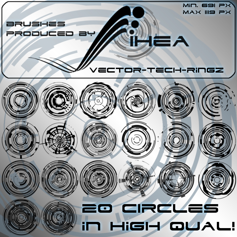 800x800 Vector Tech Rings Hq By Ihea