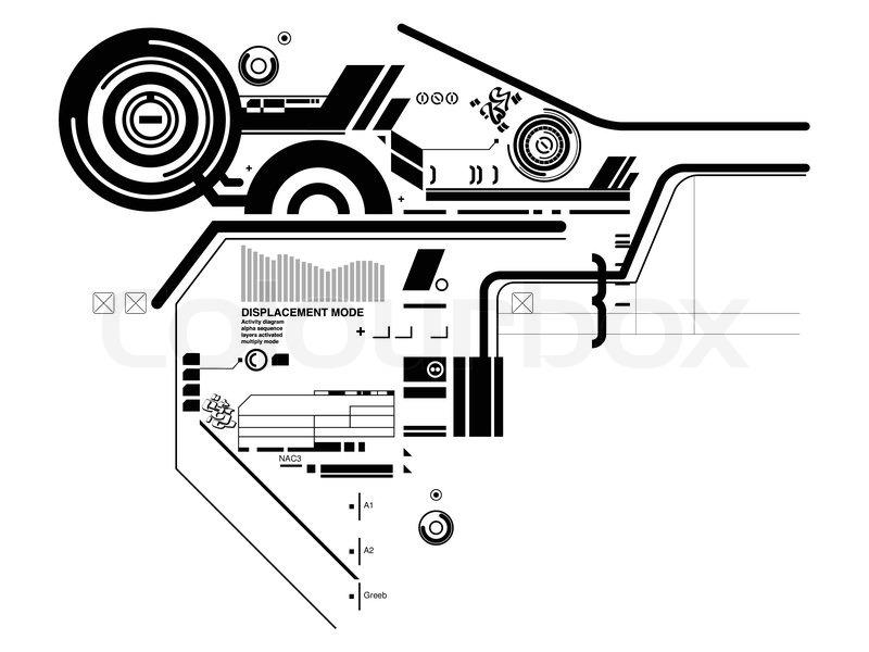 800x600 Abstract Hi Tech Composition Stock Vector Colourbox