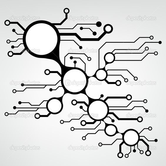564x564 Abstract Circuit Board Techno Background. Eps10 Vector Jay