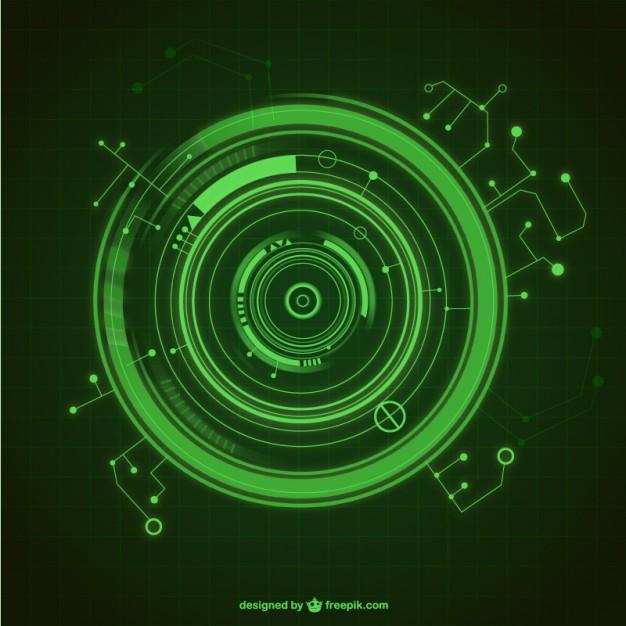 626x626 Green Techno Circle Vector Free Download
