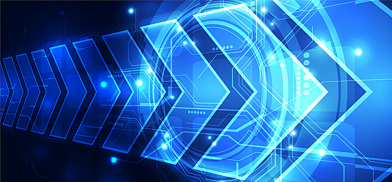 800x372 Science And Technology Background Vector Banner, Blue, Science
