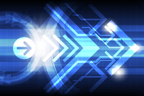500x335 Shiny Arrows Technology Background Vector Free Vector In