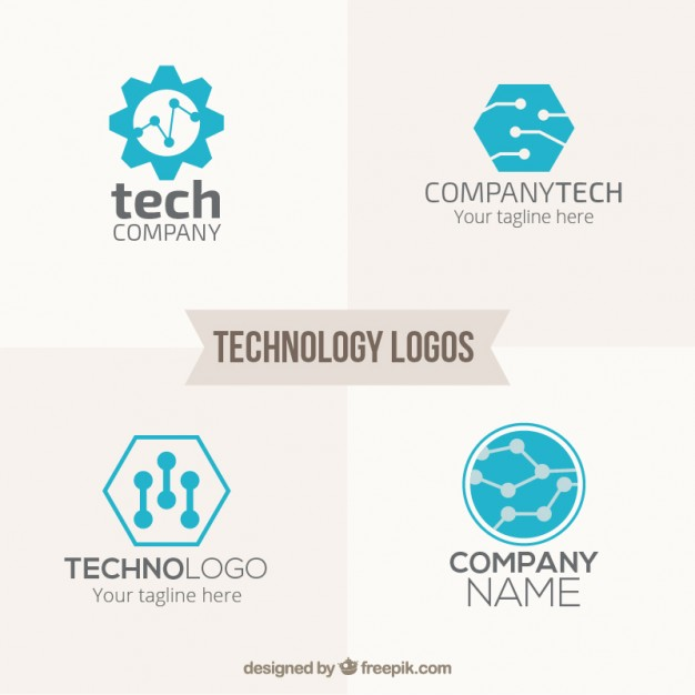 626x626 Blue Technology Logos Pack Vector Free Download