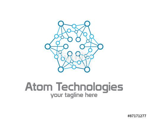 500x400 Business Corporate Atom Nuclear Technology Logo Design Template