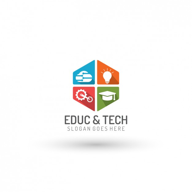 626x626 Education And Technology Logo Template Vector Free Download