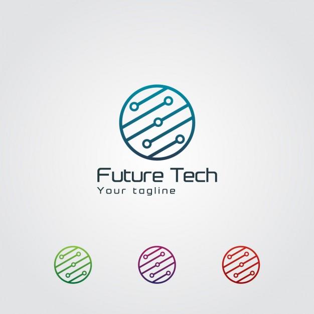 626x626 Abstract Circular Technology Logo Vector Free Download