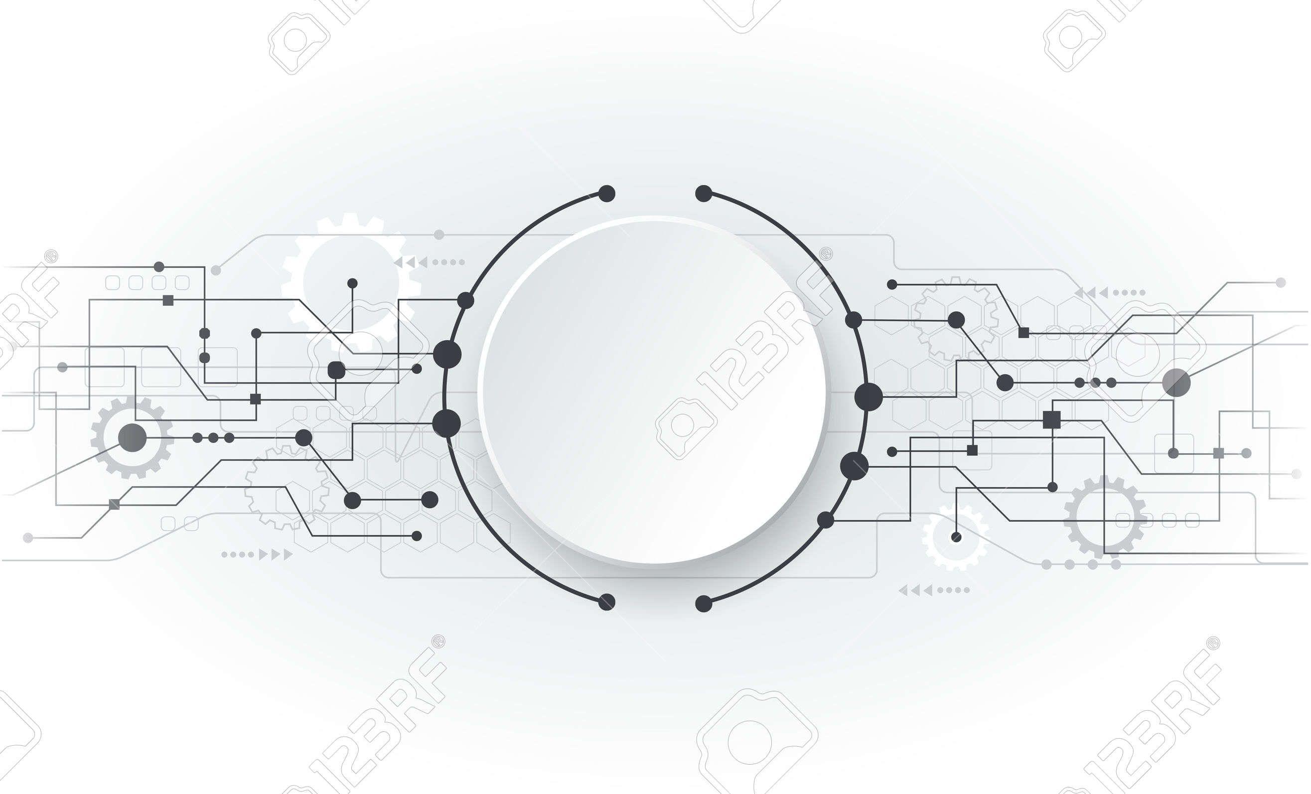 2631x1594 Vector Illustration Abstract Futuristic Circuit Board, Hi Tech