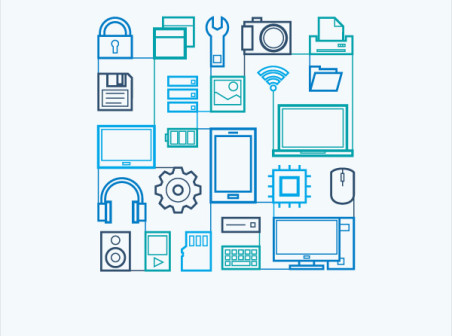 452x336 Flat Technology Icons Vector Free Flat Technology Icons Vector