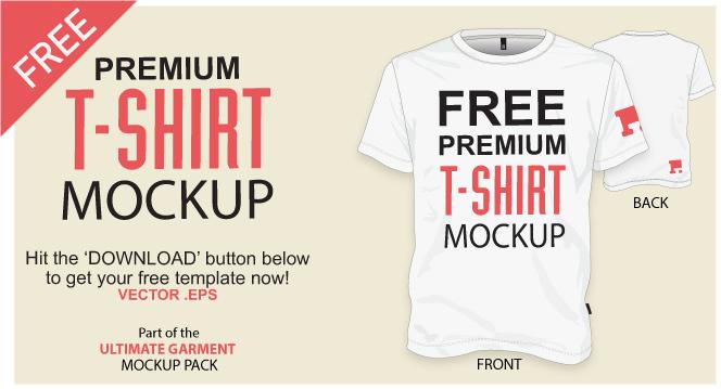 664x359 Free T Shirt Template Vector Mockup Vector File
