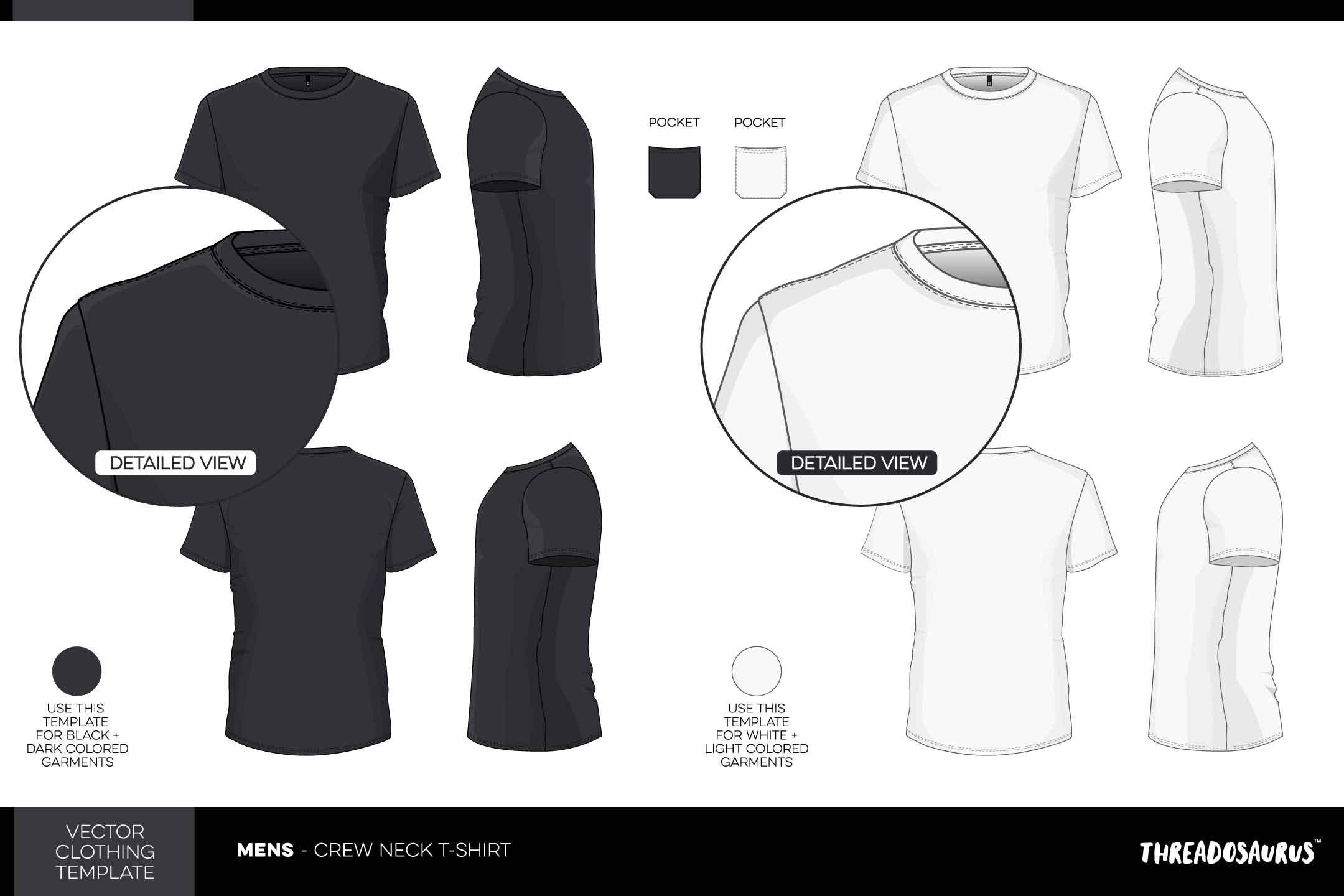 2160x1440 Mens Crew Neck T Shirt Template