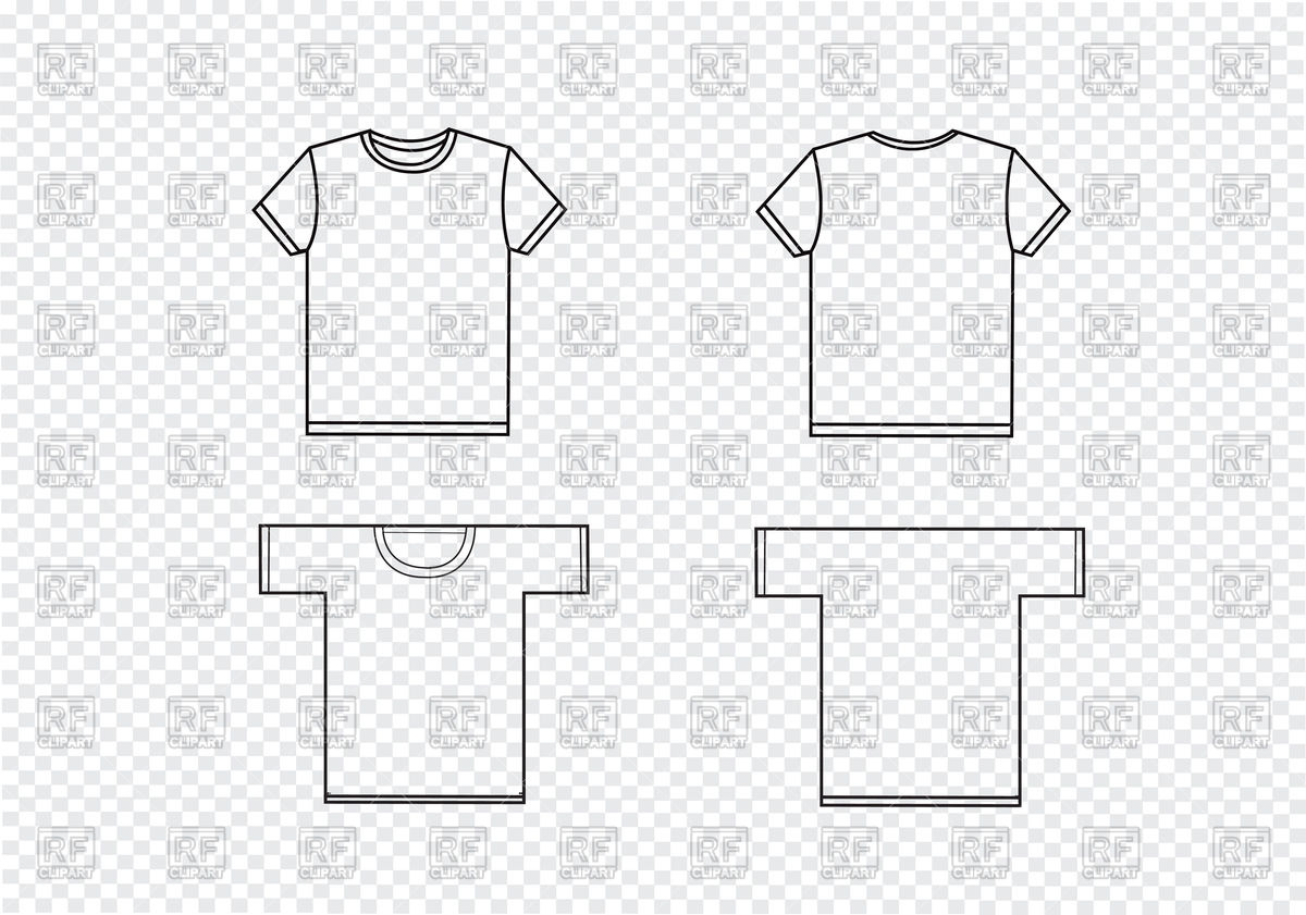 1200x841 T Shirt Templates Vector Image Vector Artwork Of Objects