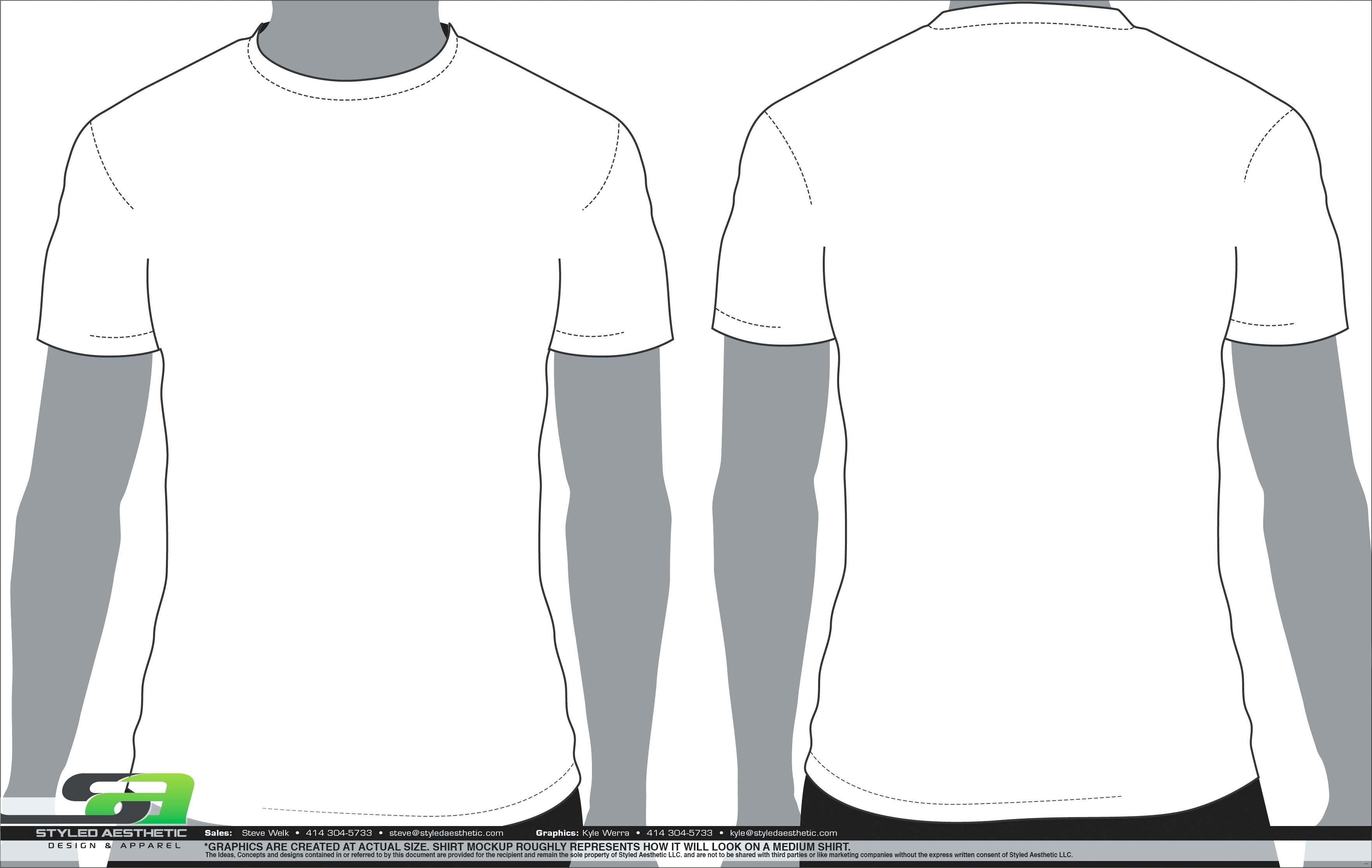 3530x2234 Blank T Shirt Templates Vector