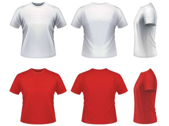 640x480 Vector Realistic T Shirt Template Free Download T Shirt Template