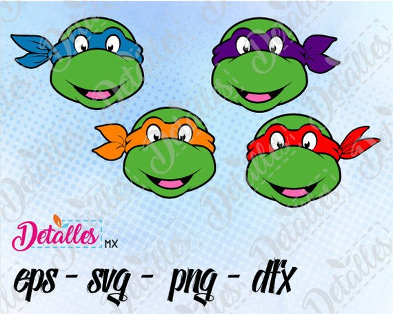 570x456 Teenage Mutant Ninja Turtles Tmnt Clipart Svg Cutting Vector Etsy