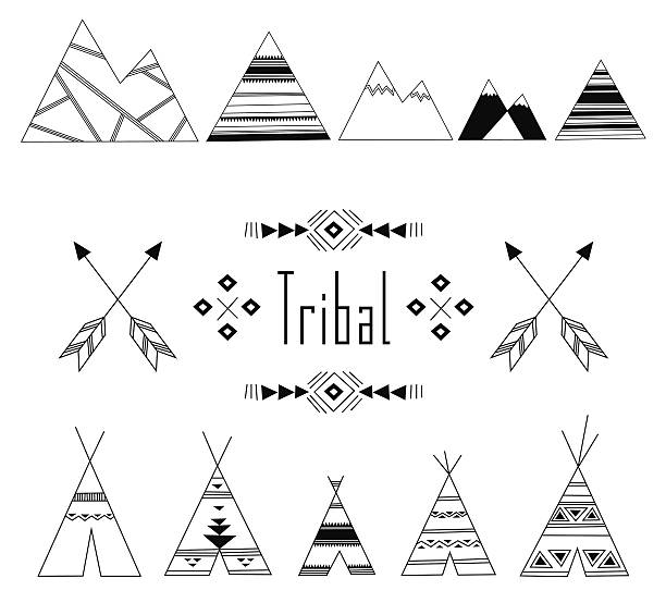 612x565 Collection Of Teepee Tent Clipart Black And White High