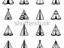 220x165 Indian Symbols On Teepees Set Indian Teepee Wigwams Ornamental