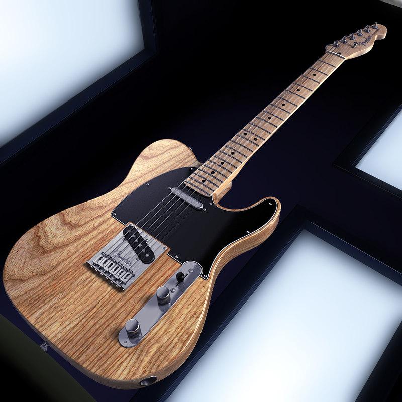 800x800 3d Fender Telecaster American Standard Model