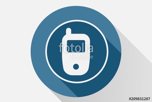 500x334 Icono Azul De Telefono. Stock Image And Royalty Free Vector Files