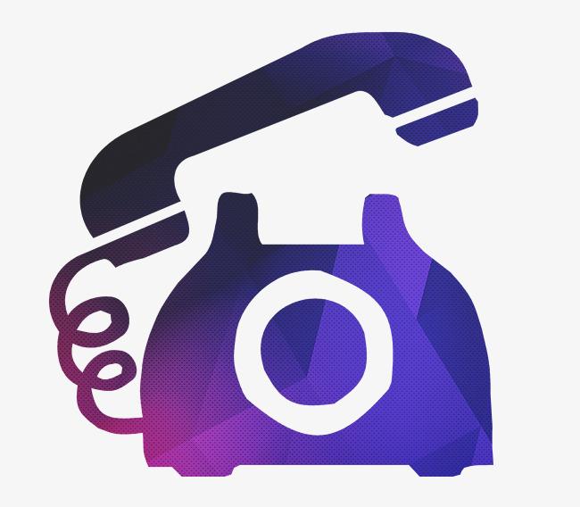 650x568 Telefono Antiguo Icono Vector Gradiente Coloreadas A Mano Pintado