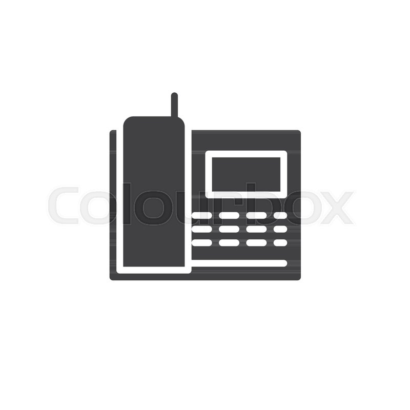 800x800 Radio Telephone Icon Vector, Filled Flat Sign, Solid Pictogram