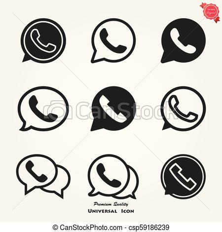 450x470 Telephone Icon Vector, Whatsapp Logo Symbol, Phone Pictogram