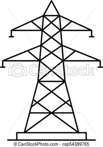 330x470 Energy Pole Icon, Outline Style. Energy Pole Icon. Outline