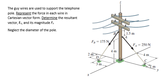 544x258 Solved The Guy Wires Are Used To Support The Telephone Po
